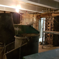 Basement work being done around one of the original vaults of the Sterling Bank Building.