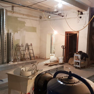 One of the basement rooms being renovated.
