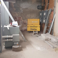 Hydro Room under construction in the basement.